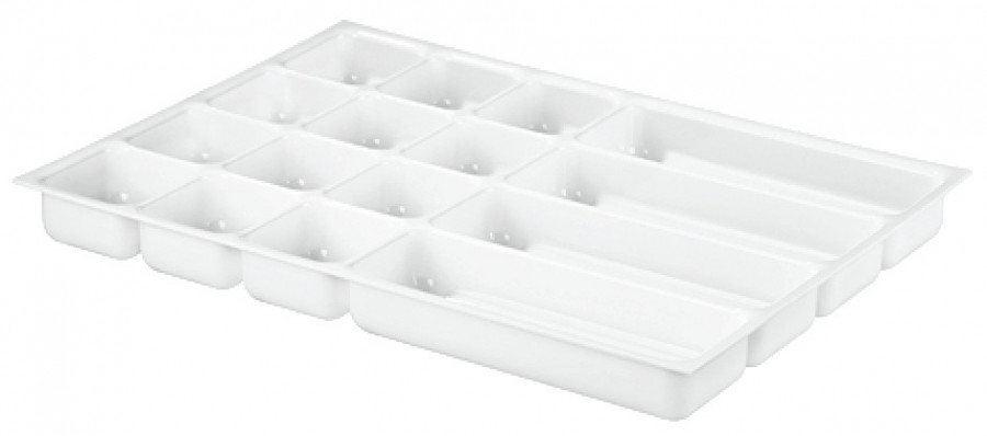 Drawer insert, shallow, variant-d, 2.5 mm material thickness,with 16 compartments