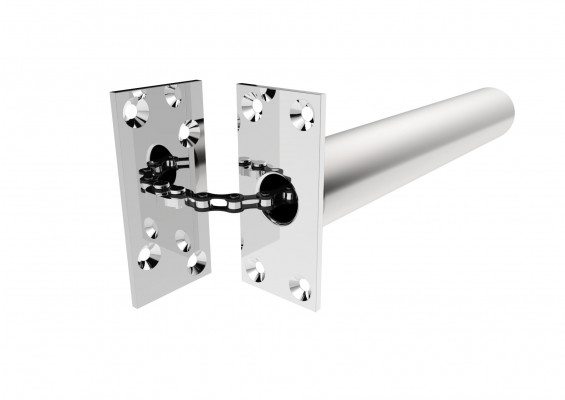 Concealed chain spring closer