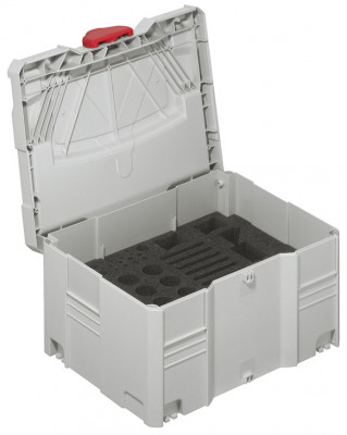 Tool box, Systainer® T-Loc, box, with foam insert for red jig, many individual components