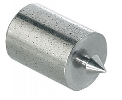 Centring pin, for marking drill holes for two-piece dowel connectors, bright