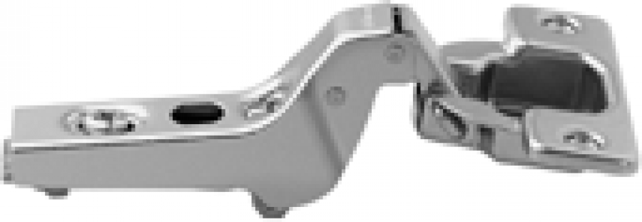 CLIP hinge 100°, INSET applications, boss: screw-on, NP