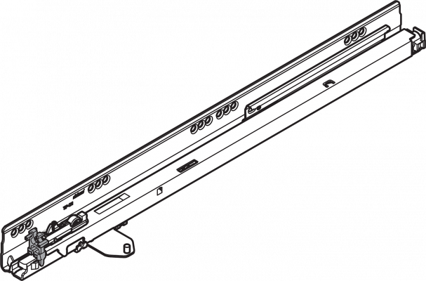 ANTARO/TANDEMBOX TIP-ON cabinet profile, 50 kg, NL=350 mm, left, ZN