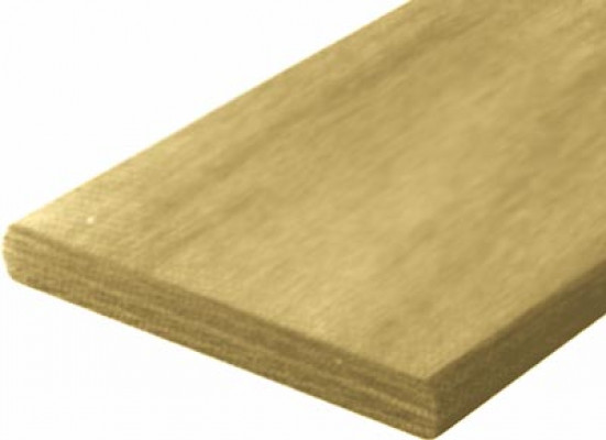 Wooden slat, 12x100 mm, for double beds, length 1372 mm