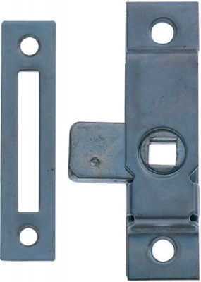 Rim lock, budget, small or large, steel, zinc,small
