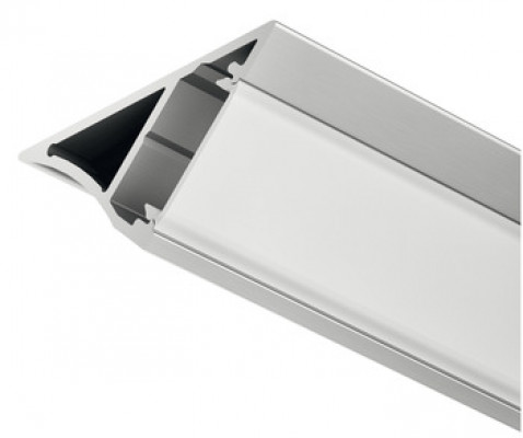 Aluminium profile, for Loox LED 18.5 mm strip lights, L=2500 mm, silver anodised, milky