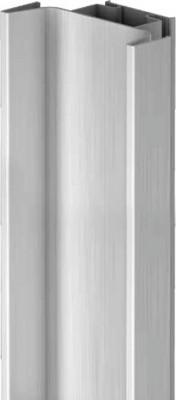 Profile handle, vertical fixing between cabinet & door, Gola system E, L=2.40 m, bronze