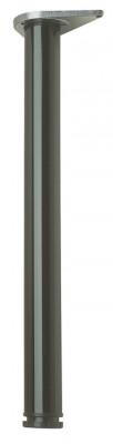 Table leg, 690 mm high, 60 mm, tubular steel, raw