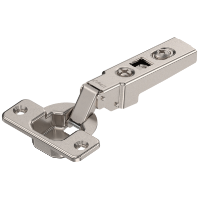 CLIP hinge 100° OVERLAY, unsprung, steel, boss: TIP-ON, nickel
