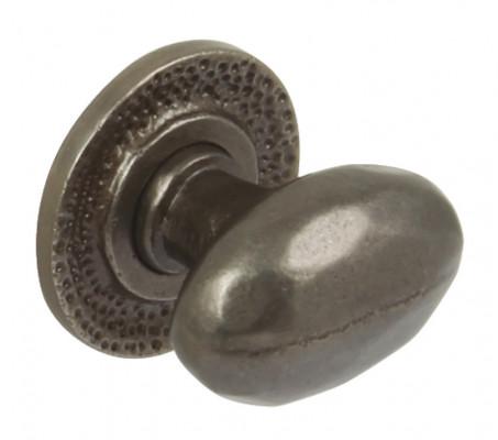 Knob, cast iron, 34x37 mm, Syon, antique pewter