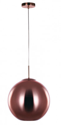 Ceiling pendant, large, Ø 400 mm, Oberon, mains voltage, copper