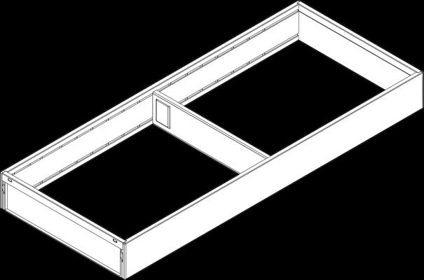 AMBIA-LINE utensil insert, width=200 mm, NL=500 mm, orion grey
