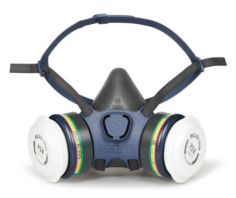 Respirator, half mask, pre-assembled, Moldex 7432, with ABEK1P3 filters