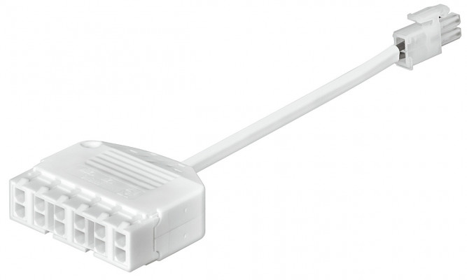 Distributor, plug with 6x12 v couplings, 12v/6a, lead length 200 mm