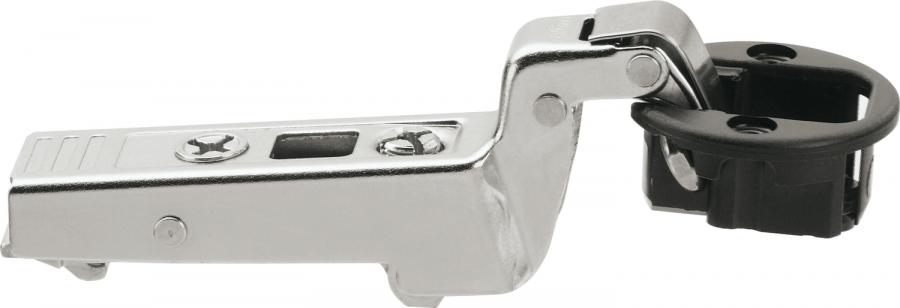 CLIP top glass door hinge 94°, INSET 18 mm, boss: screw-on, NP