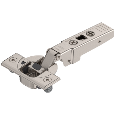 CLIP top BLUMOTION profile door hinge 95°, OVERLAY, boss: KNOCK-IN, nickel