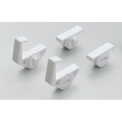 Shelf holder with angle adjusting function, white