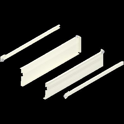 METABOX side, height K (118 mm), single ext, 25 kg, NL=400 mm, left+right, cream/white
