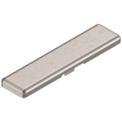 MODUL hinge cover cap, plain, 100° straight arm hinge, nickel