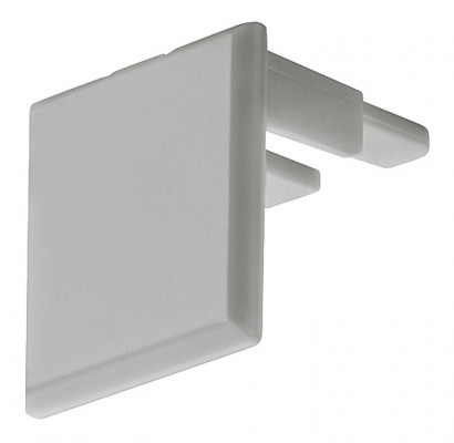 End cap, to suit aluminum profile, rectangular end cap to suit HA.833.74.813, silver