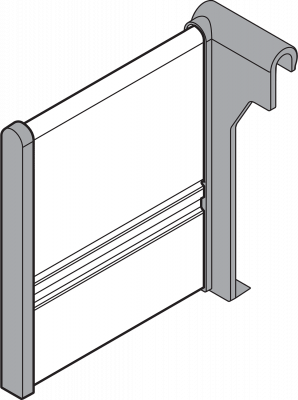 ORGA-LINE cross divider, for TANDEMBOX, NL=450 mm, metalic grey