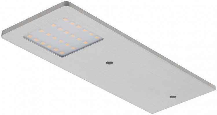 LED downlight 24 V, flat, IP20, Loox compatible polar, silver, warm white 3100 K