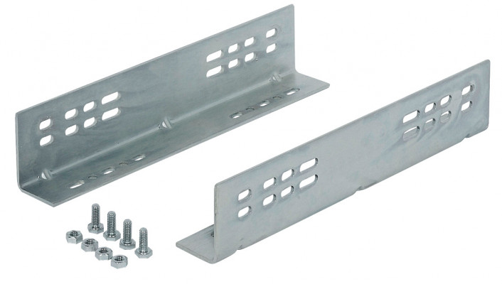Mounting brackets, for Accuride 7957/9301/9308, L=406 mm, 4 bottom & 2 side mount options