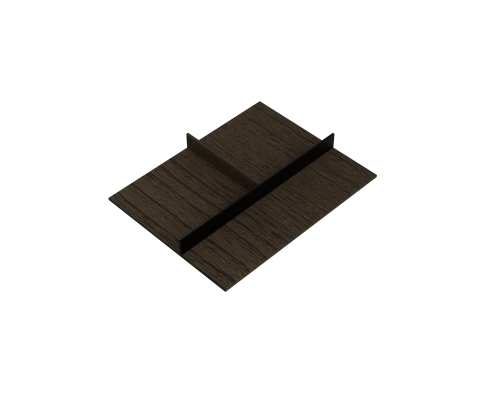 FIT accessory insert, 369x472x48 mm, 45V2, moka stained oak with black aluminium insert