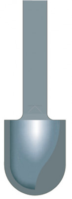 Cutter, radius bit, two fluted, 1/4in or 1/2in shank, shank 1/2in