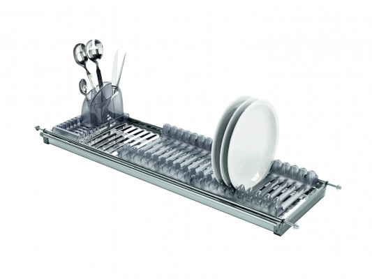 MODULAR plate racks with tray, W=900 mm, stainless steel