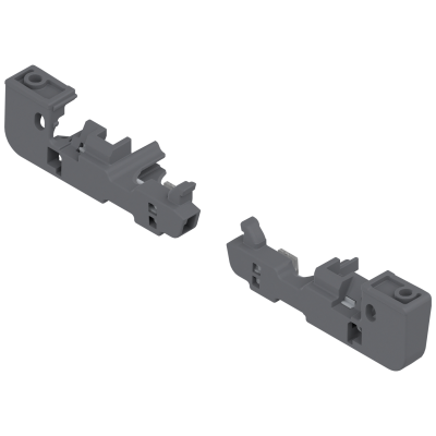 Depth Adjustment for MOVENTO Locking device, left+right, dust grey