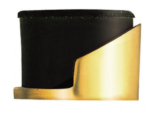 Doorstop floor mounted (Round), brass
