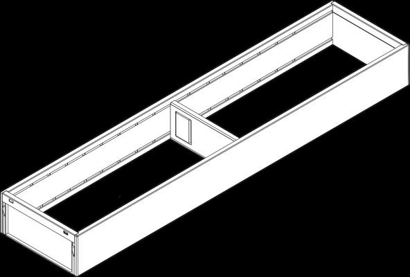 AMBIA-LINE utensil insert, width=100 mm, NL=500 mm, orion grey