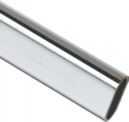 Wardrobe rail, length 2500 mm, height 30 mm, width 15 mm, wall thickness 1.5 mm, chrome