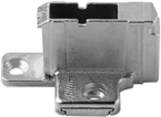 CLIP mounting plate, cruciform, 18 mm, zinc, system screws, two-part, NP