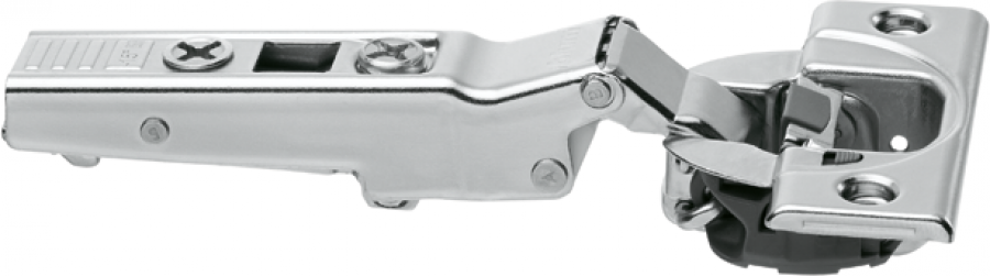 CLIP top BLUMOTION angled hinge 110° for -15° application, OVERLAY, boss: screw-on, NP