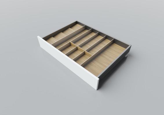 Cutlery divider for LEGRABOX/TA'OR C=750-900 mm, NL=550 mm, oak