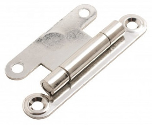 Flat concealed hinge, 63 mm, zinc