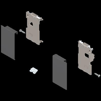 LEGRABOX front fixing, height M (91 mm), for inner drawer, left+right, orion grey