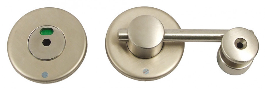 Indicator bolt, 316 L cubicle fittings, PBA, Stainless steel, 13 mm board partition, satin