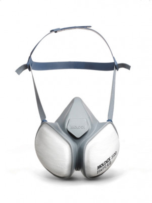 Dust mask, compact half mask, with A1P2 filters, Moldex, protective level FFA1 P2 R D