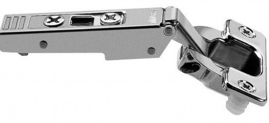CLIP top hinge 120°, sprung steel 10mm KNOCK-IN, NP