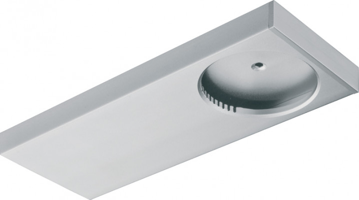 Bezel, rectangular, for loox LED 3010, for surface mounting, silver anodised