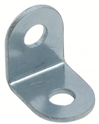 Angle bracket, 13 mm with 2x4.9 mm holes, zinc