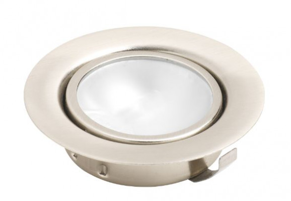 Low voltage downlight, 12V/20W, recessed/surface, 1.5M cable, no ring, brass