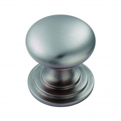 Victorian knob (one piece), Ø 25 mm, satin stainless effect