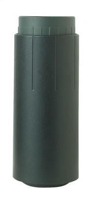 Table leg foot, adjustable, plastic, for 60 mm steel tubes , black