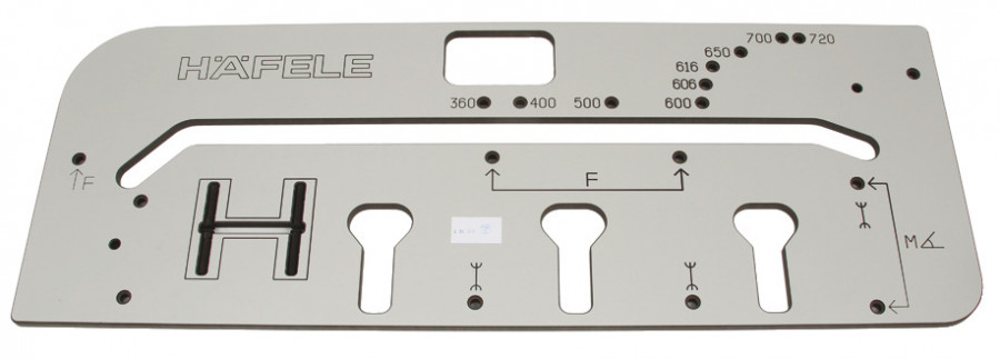 Jig, for worktops, for right & lift standard 90ø & 45ø joints, 360-720 mm