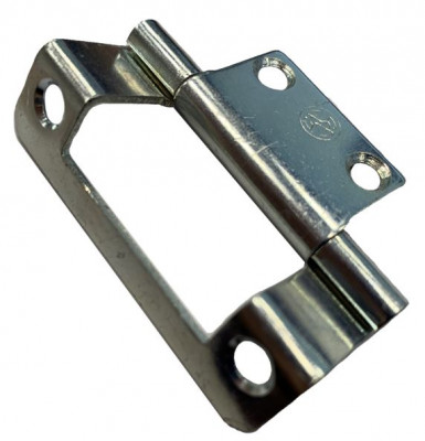 Single cranked flush hinge, 12mm, zinc