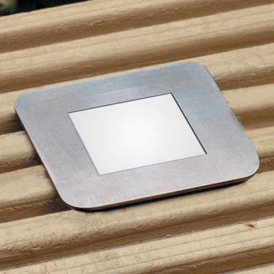 LED square light 16v, 35x35mm, use in plinths, floors or decking, white