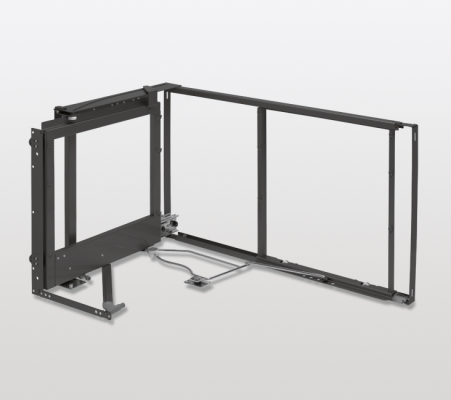 Magic corner standard mechansm, 900 mm, s/close door, left, DW=550 mm, PEKA, anthracite